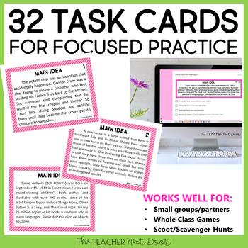 Main Idea | Main Idea Activity for 4th and 5th Grades by ...