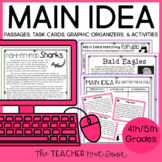 4th and 5th Grades Main Idea Print and Digital Distance Learning