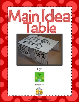 Main Idea Table
