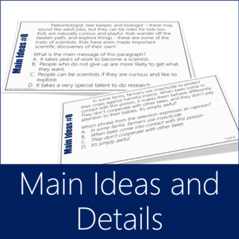Main Idea Task Card Bundle 3