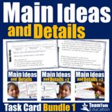 Main Idea Task Card Bundle and STAAR Prep