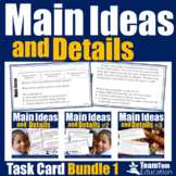 Main Idea Task Card Bundle and STAAR Prep