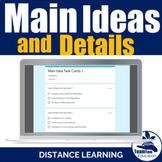 Main Idea Task Cards 1 - Distance Learning Quiz (Google Cl