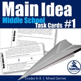 Main Idea Task Cards 1 (Grades 6-8)