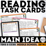 Main Idea Task Cards   PDF & Digital   Distance Learning