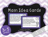 Main Idea Task Cards - {3-5 Grade, common core aligned!}
