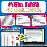 Main Idea Task Cards (grades 4-6) | PDF and Digital | Dist