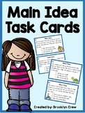 Free Main Idea Task Cards