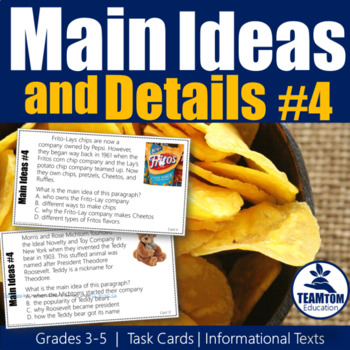 Main Idea Task Cards 4 (Informational Texts)