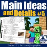 Main Idea Task Cards 5 (Biographies)