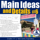 Main Idea Task Cards 6 (STAAR, Expository)