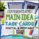 Main Idea Task Cards | Distance Learning | Google Classroom