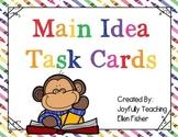 Main Idea Task Cards - Back to School Edition
