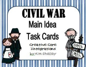 Task Cards - Civil War Main Ideas
