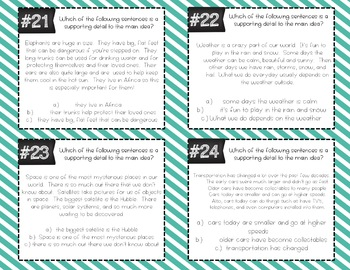 Main Idea Task Cards (Differentiated)