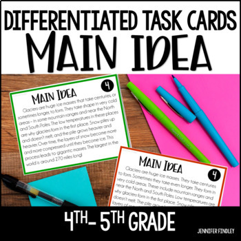 Main Idea Task Cards | Differentiated with Google Forms for Distance Learning