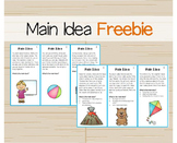 Main Idea Task Cards Freebie