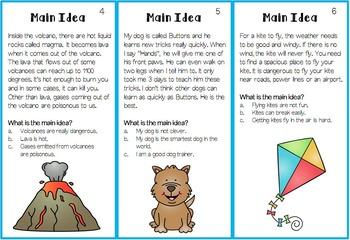 Main Idea Task Cards Freebie