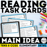 Main Idea Task Cards Grade 3-5