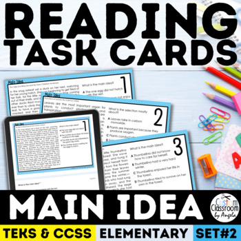 Main Idea Task Cards Grade 3-5