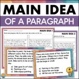 Main Idea Task Cards Worksheet Assessment Reading Comprehension