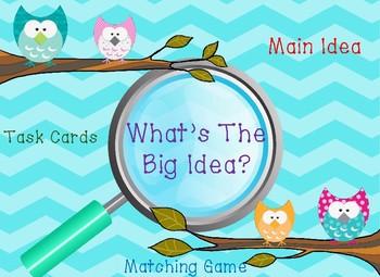 Main Idea Task Cards & Matching Game Set!