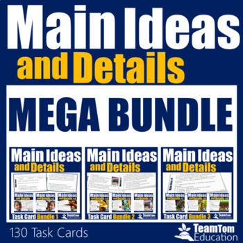 Main Idea Task Cards Mega Bundle (Grades 3-5)