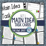 Main Idea Task Cards - Non fiction text Test Prep