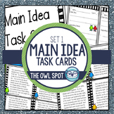 Main Idea Task Cards - Non fiction text Test Prep