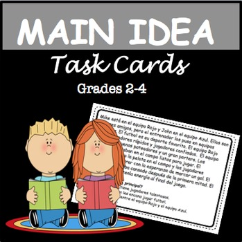 Main Idea Task Cards & Posters/Handout (2nd - 4th)