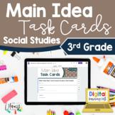 Main Idea Task Cards Social Studies 3rd Grade | Distance L