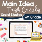 Main Idea Task Cards Social Studies 4th Grade | Distance L