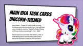 Main Idea Task Cards (Unicorn Themed)