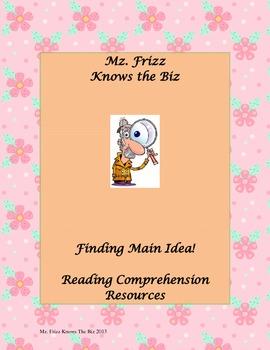 Main Idea Task Cards for 4th Grade