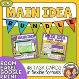 Main Idea Task Cards and Digital Boom Cards Bundle