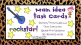 Main Idea Task Cards and Guided Mini-Lessons Rockstar