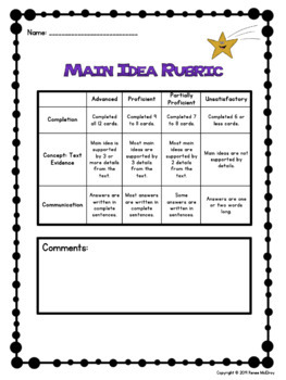 Main Idea Task Cards and Guided Mini-Lessons The World's Deadliest