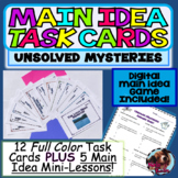 Distance Learning Main Idea Task Cards and Guided Mini-Lessons Google Ready!