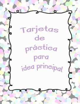 Main Idea Task Cards in Spanish