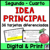 Main Idea in Spanish-Idea principal-Comprensiòn de lectura