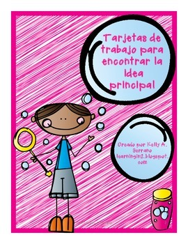 Main Idea Task Cards in Spanish / Tarjetas para encontrar