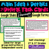 Main Idea Task Cards using Google Forms (2nd and 3rd Grade): A Digital Resource