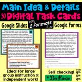 Main Idea Task Cards using Google Forms or Google Slides