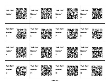 Main Idea Task Cards with QR Code Option