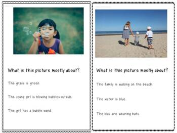 Main Idea Task Cards with Real Pictures