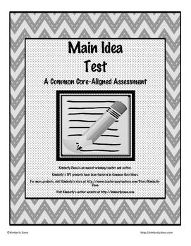 Main Idea Test