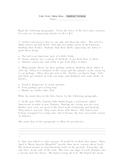 Main Idea Test Student and Teacher Versions