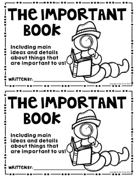 Main Idea: The Important Thing (based on the book, The Important Book)
