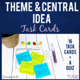 Main Idea Theme Central Idea Task Cards   Printable