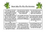 Main Idea Tic-Tac-Toe Board Choice Activities